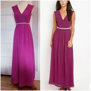 Forever 21 Chiffon Maxi Dress, Size S